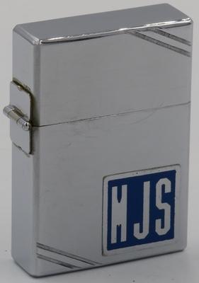 1934 Metallique Zippo with initials HJS