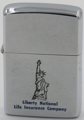 1965 Zippo with a graphic of the Statue of Liberty for Liberty National Life Insurance Company