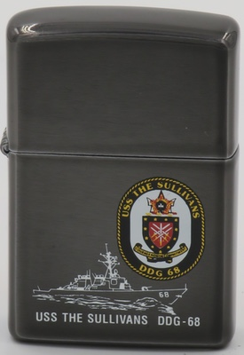 1997 Zippo for USS The Sullivans, named after the five Sullivan brothers killed on one ship during World War II
