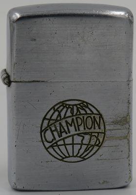 1947-49 Zippo with line-drawn Champion logo