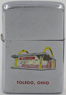 1961 Zippo McDonalds in Toledo Ohio