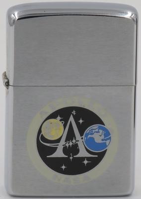 1975 Zippo with insignia NASA's Apollo Program