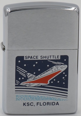 1989 Zippo with the image of one of the Space Shuttles which were launched from Kennedy Space Center (KSC) in Florida