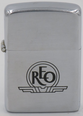 1947 Zippo for REO Motor Car Company which was a Lansing, Michigan-based company that produced automobiles and trucks from 1905 to 1975