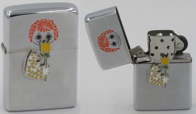 1975 Raggedy Anne trick lighter straight stem