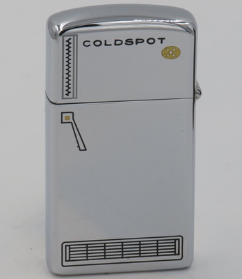 1965 slim Zippo for Coldspot which was a Sears brand that existed from 1928 to 1976 when it was replaced with the Kenmore brand