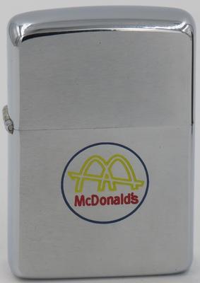 1967 Zippo with McDonald's Golden Arches logo
