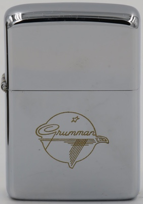 1967 high-polish Zippo with the Grumman logo engraved in gold.