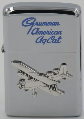 1970 Zippo with a Grumman AgCat badge attached.