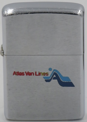 1974 Zippo for Atlas Van Lines. It is an American moving company formed in 1948 by a group of local transfer and storage firms. As an agent-owned company, it is similar in form to a cooperative. Based in Evansville, Indiana, United States, it is the second-largest interstate motor carrier in the U.S.