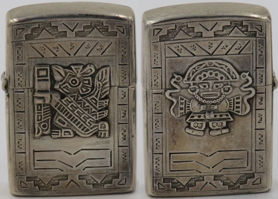 """925 Sterling made in Peru marked """"A. Bogino"""" with Indian gods on both sides"""