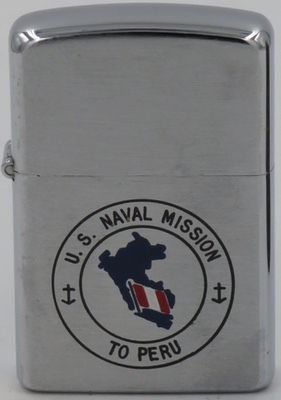 Japanese Kownwal Super lighter with a flag and map of Peru for the US Naval Mission to Peru