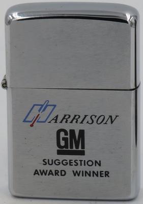 1974 Zippo for Harrison GM or General Motors -Suggestion Award Winner