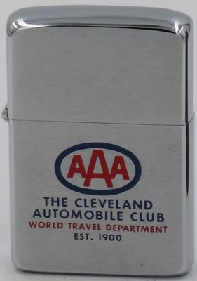 1961 AAA Zippo for The Cleveland Automobile Club World Travel Department Est. 1900
