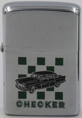 1968 Zippo advertising Checker Cabs