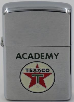 1950 Zippo for Texaco Academy, an internal employee training and eduction program for Texaco employees