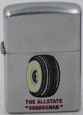 1950 Zippo advertising the Allstate Guardsman Tire