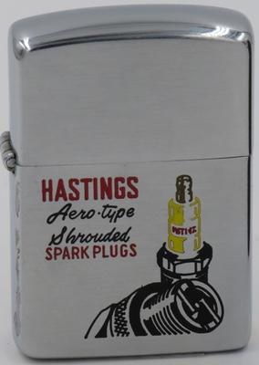 1953 Zippo for Hastings Aero-type Shrouded Spark Plugs