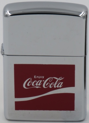 1974 Zippo with a Coca-Cola logo introduced in 1969.