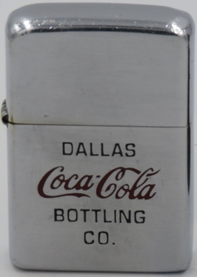 1978 Zippo advertising the Dallas Coca Bottling Company started in 1902.