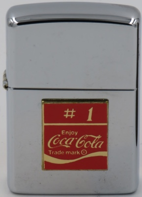 1998 Zippo with an attached Coca-Cola badge.
