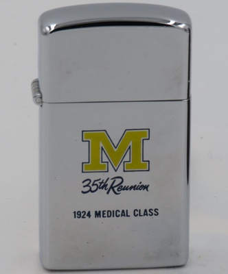 1959 slim Zippo Michigan 35th Reunion Medical Class