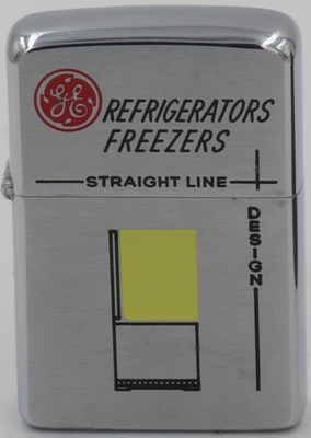 "1957 Zippo for GE refrigerators and freezers, ""Straight Line Designs"""
