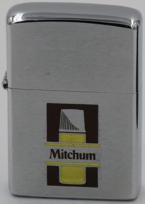 1960 Canada made Zippo advertising Mitchum antiperspirant-deodorant