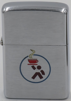 1957 Zippo with a coffee cup and server design