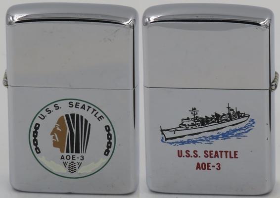 1985 Zippo for USS Seattle, a Sacramento class fast combat ship