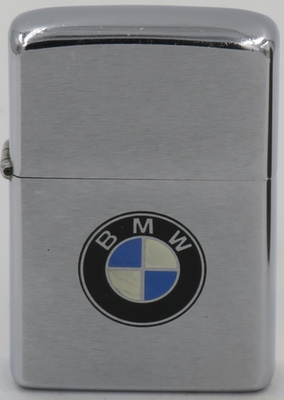 1974 Zippo for BMW (Bayerische Motoren Werke ), a German multinational company which produces automobiles and motorcycles. The company was founded in 1916 and has its headquarters in Munich,Bavaria.