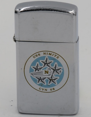 1986 slim Zippo for USS Nimitz,a nuclear-powered supercarrier of the United States Navy