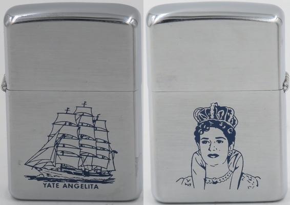 "1958 Zippo with Rafael Trujillo's daughter María de los Angeles, or ""Angelita"" the name sake of the famous yacht"