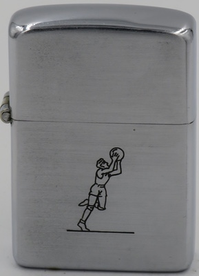 "1946-47 Zippo with line drawn Sports Series'  ""Golfer"""
