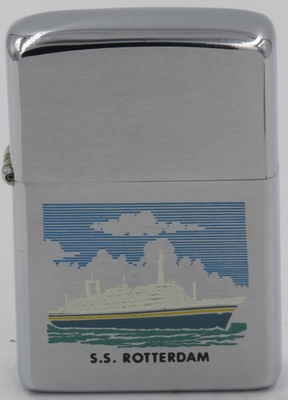 1974 Zippo for SS Rotterdam, one of the post World War II ocean liners