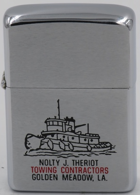 1971 Zippo with a tugboat for Nolty J. Theriot Towing Contractors Golden Meadow, Lousiana