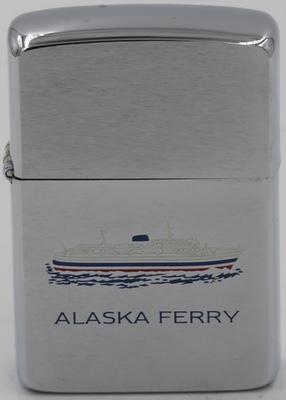 1985 Zippo with an Alaska Ferry of the Alaska Marine Highway System