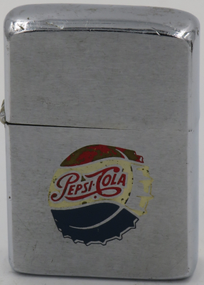 1961 Zippo with an engraved Pepsi logo. Pepsi advertising Zippos with the engraved Pepsi logo are quite scarce