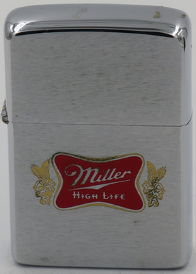 1976 Zippo advertising Miller High Life, a leading beer brand of Miller Brewing Company of Milwaukee, Wisconsin
