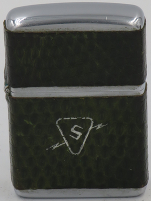Here is a 1953 leather-wrap Zippo advertising Sylvania,an electric company