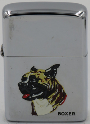 1981 Zippo with a Boxer dog