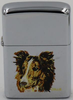 1971 Zippo with a Collie