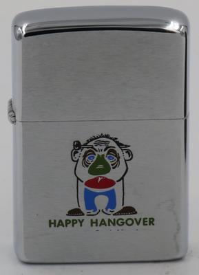 """1975 Zippo """"Happy Hangover"""""""
