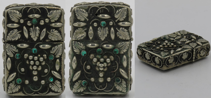 1950s? Sterling ornate green stones 2.JPG