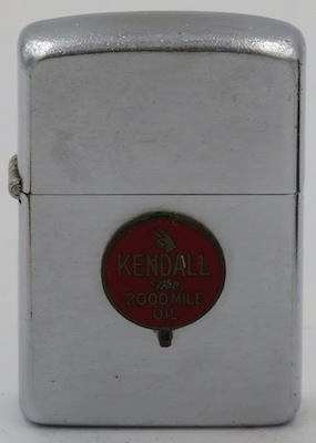 1954-55 Zippo with attached Kendall badge