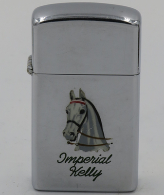 """1957 Town & Country slim Zippo with the head of """"Imperial Kelly"""""""