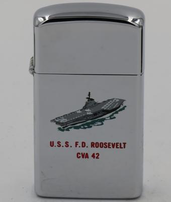 1966 slim T&C Zippo forUSS F.D. Roosevelt