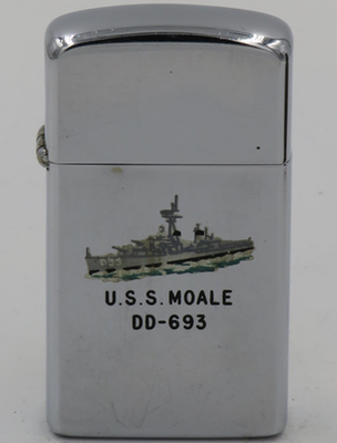 1963 slim T&C Zippo for destroyer USS Moale
