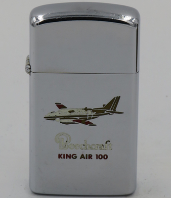 Beechcraft King Air 100 on a slim 1971 Zippo