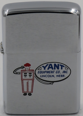 1979 Zippo with a saluting pump man for Yant Equipment Co. Inc., a distributor of storage tanks in Lincoln Nebraska